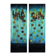 Benzara Handcrafted Metal Wall Plaque With Aesthetic Appeal 2 Assorted