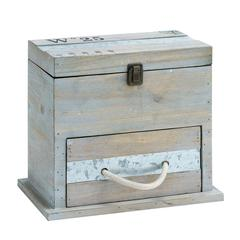 Benzara Useful And Spacious Square Shaped Wooden Box With Drawer