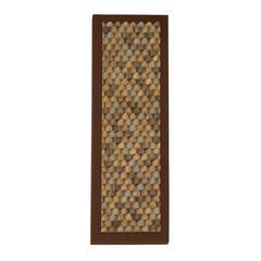 """Benzara Textured Wood Bark Plaque 16""""W, 47""""H"""