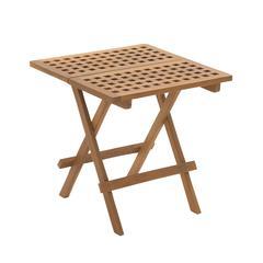 Benzara Creatively Designed Wood Teak Folding Table