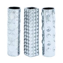 Benzara Geometric Shaped Ceramic Vase In 3 Assorted Shapes