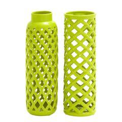 Benzara Customary Styled Ceramic Vase 2 Assorted