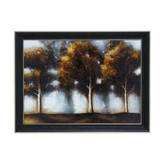 "Multicolor Natural Scenery Depicted 35"" Framed Art Decor"