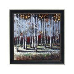 "Multicolor Natural Scenery 35"" Framed Art Decor In Black Frame"