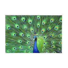 Benzara Peacock Themed Classy Wall Canvas Art