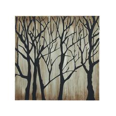Benzara Modern Tree Themed Canvas Wall Art
