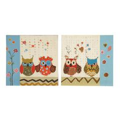 Owl Sassy Styled Canvas Art 2 Assorted