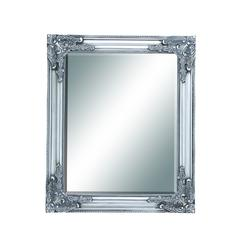 Benzara Wood Beveled Mirror In Baroque Style Accents