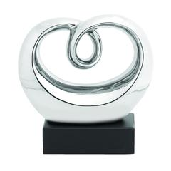 Benzara Perfect Polished Abstract Whirling Sculpture