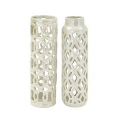 Benzara Adorable And Artistic Ceramic Vase 2 Assorted