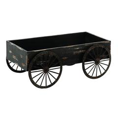 Wood Decor Cart In Light Grey Background With Royalty Look