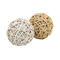 Benzara Assorted Dual Jute Balls With A Classy Look
