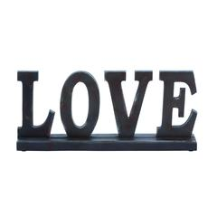 "Benzara Wooden ""Love"" Table Top With Intricate Detailing"