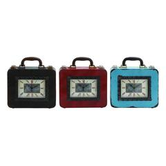 Beautifully Styled Metal Table Clock 3 Assorted