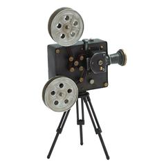 Benzara Japanned Well Turned-Out Metal Projector Deco