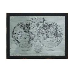 Global Worldly Wood Metal Wall Panel