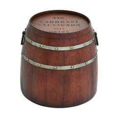 Benzara American Cowboy Themed Classy Metal Barrel Table
