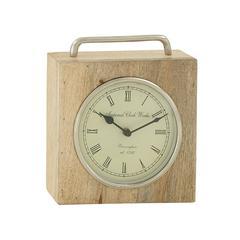 Splendid Wood Metal Table Clock