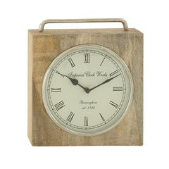 Awesome Wood Metal Table Clock