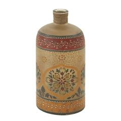 Timelessly Lovely Glass Painted Bottle