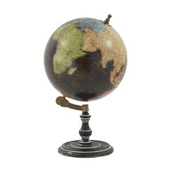 "Benzara Exclusive Wood Metal Pvc Globe 12""W, 21""H"