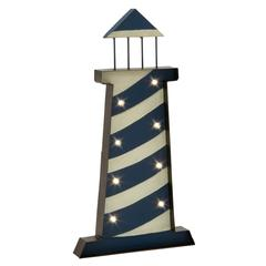 Adorable Metal Lighthouse With Bulb