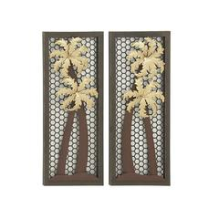 Elegantly Designed 2 Assorted Metal Wall Décor