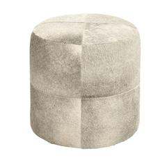 Benzara White Color Fancy Wood Leather Ottoman