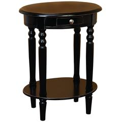 Benzara Wood Oval Accent Table A True Furniture Accent