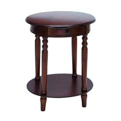 Benzara Classic Accent Table With Plum Purple Mahogany Wood