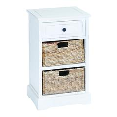Classic Wood Basket Cabinet Brandishing Fine Detailing