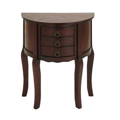 Benzara Wood Night Stand With Wood Brown Shade & Useful Drawer Front