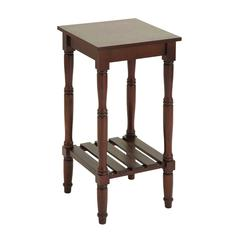 Wood Accent Table In Soft And Chocolate Brown Shade