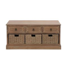 The Rural Wood 3 Basket Chest