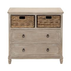 Stylish And Multipurpose Wood Basket Dresser