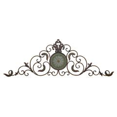 Benzara Metal Wall Decor A Classic Horizontal Wall Decor