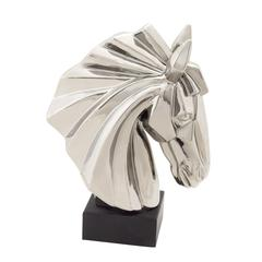 Exquisite And Classy Ceramic Horse Head Silver
