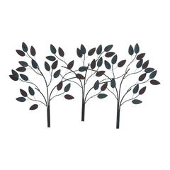 Metal Leaf Decor In Dark Color With Soothing & Royal Touch