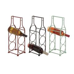 The Simple Metal Wine Holder 3 Assorted