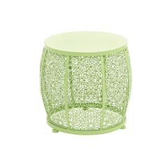 Benzara The Lovely Metal Green Accent Table
