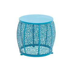 Benzara The Delightful Metal Blue Accent Table