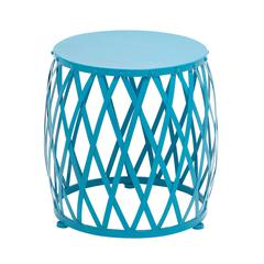 Benzara The Bright Metal Blue Accent Table