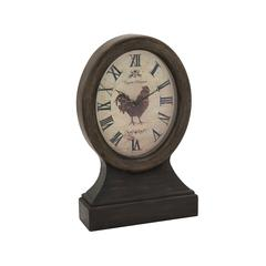 Benzara Attractive Brown Polished Wood Table Clock