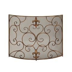 Exquisitely Designed Metal Fire Screen