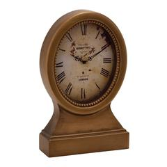 Benzara Vintage Themed Wood Table Clock