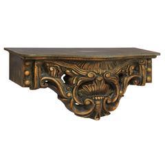 Antique Styled Polystone Wood Wall Shelf