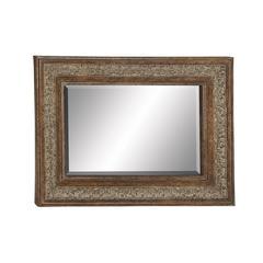Benzara Sparkling & Unique Styled Metal Wall Mirror
