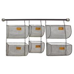 Benzara Modernly Designed Metal Wall Basket