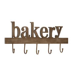 Benzara Alluring & Unique Styled Wood Metal Bakery Wall Hook