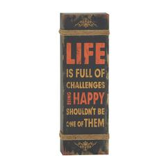 Benzara Quote Wood Rope Wall Decor